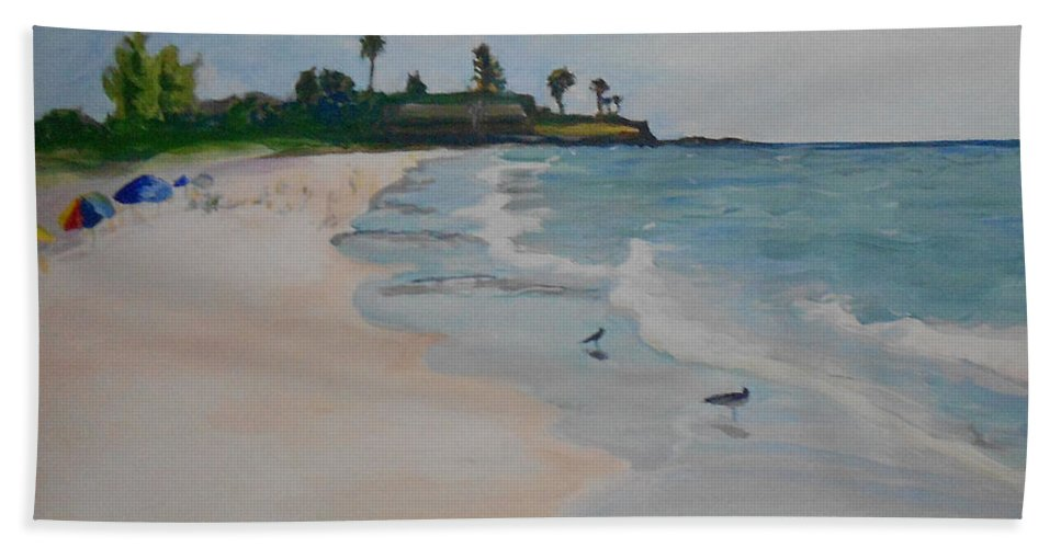 Paintings Beach Towel featuring the painting Point Of Rocks by Daniel Gale