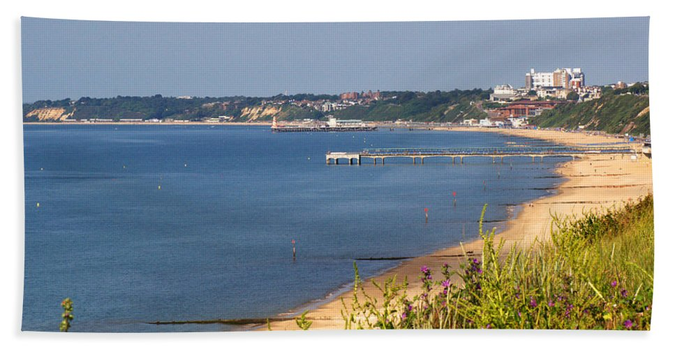 Poole Bay Beach Towel featuring the photograph Poole Bay - June 2010 by Chris Day