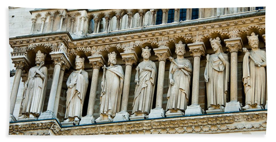 France Beach Towel featuring the photograph Popes At Notre Dame Cathedral by Jon Berghoff