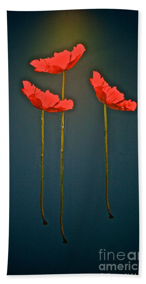 Floral Beach Towel featuring the photograph Poppy Power by Susan Herber