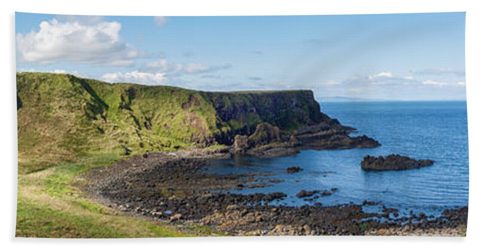 Europe Beach Towel featuring the photograph Portnaboe Bay At Giants Causeway by Semmick Photo