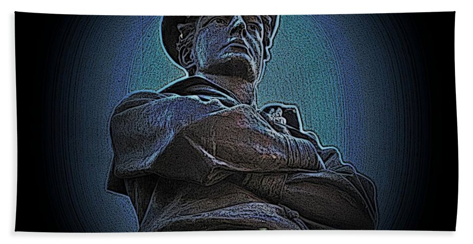 Civil War Beach Towel featuring the photograph Portrait 33 American Civil War by David Dehner
