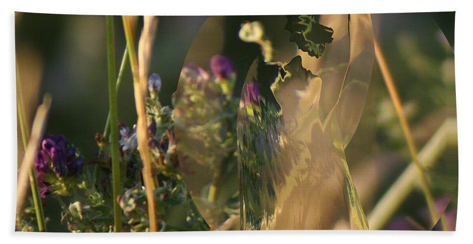 Flowers Beach Towel featuring the photograph Pose by Andrea Lawrence