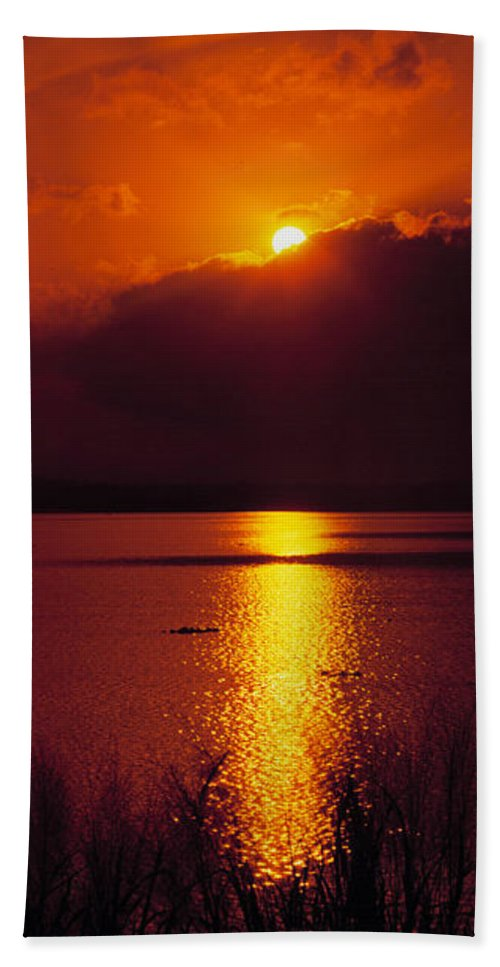 Potomac River Beach Towel featuring the photograph Potomac Sunrise Washington Dc by Mike Nellums