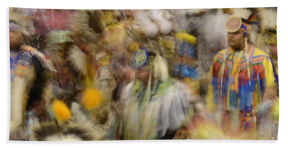 Pow Wow Beach Towel featuring the photograph Pow Wow Color by Bob Christopher