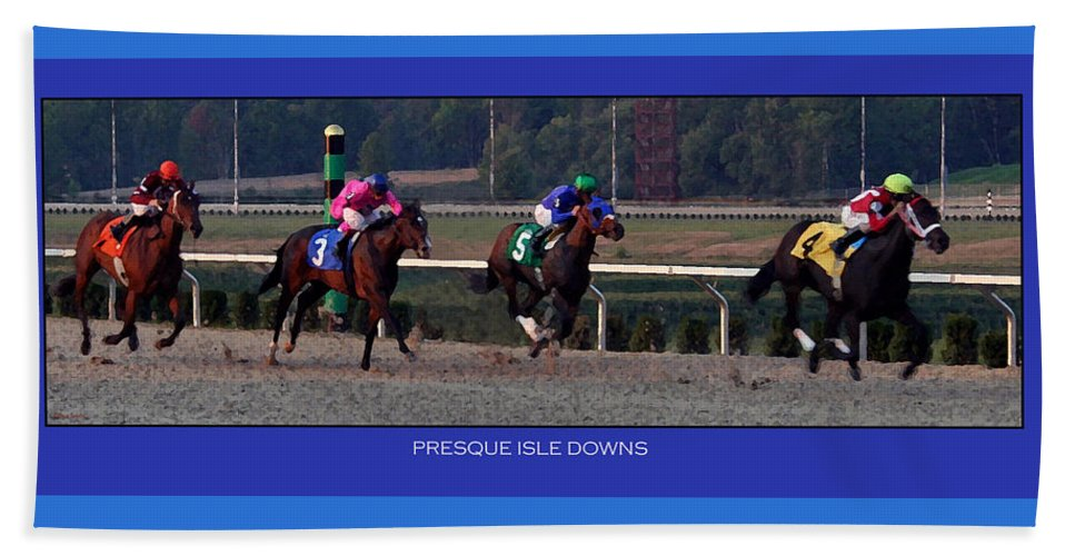 Horses Beach Towel featuring the photograph Presque Isle Downs by Rebecca Samler