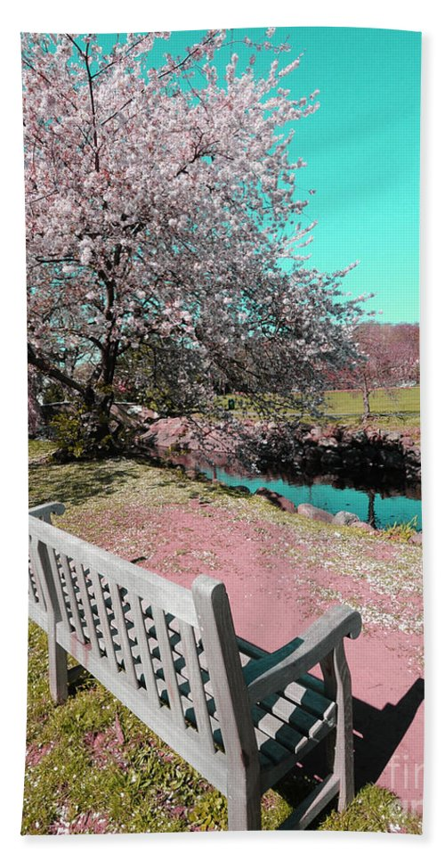 Landscape Beach Towel featuring the photograph Pretty In Pink by Paul Ward