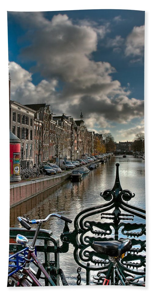 Holland Amsterdam Beach Towel featuring the photograph Prinsengracht And Leidsestraat. Amsterdam by Juan Carlos Ferro Duque
