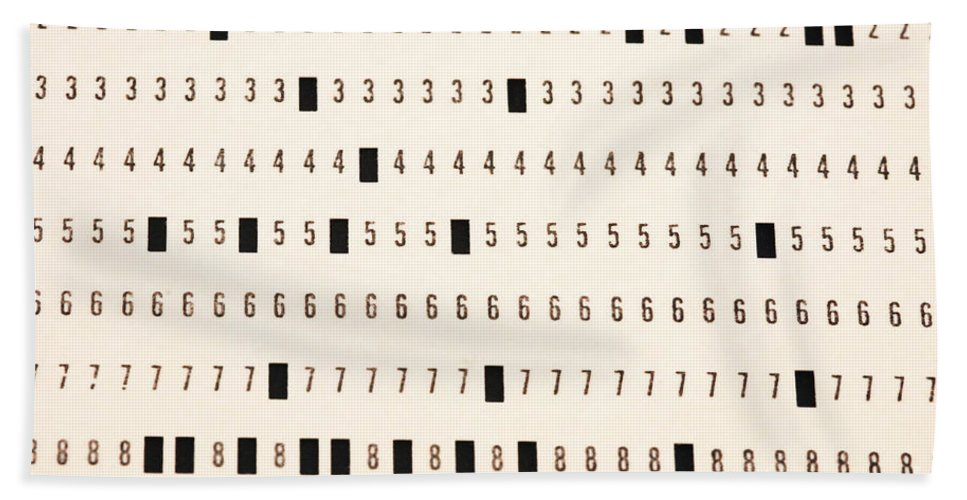 Punch Cards Beach Towel featuring the photograph Punch Card by Photo Researchers, Inc.