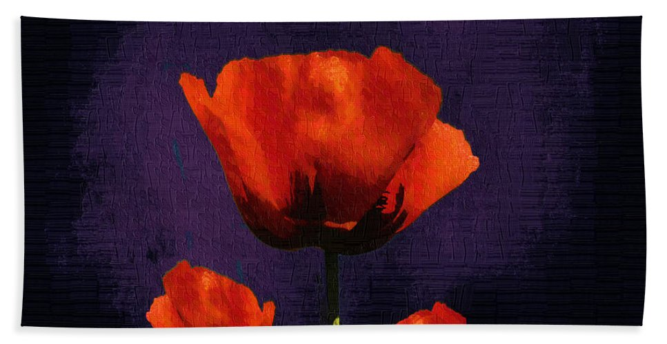 Poppies Beach Towel featuring the digital art Puppies Fun - 01c by Variance Collections
