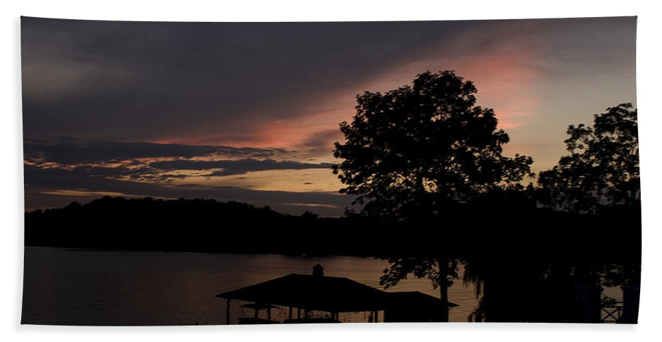 Landscape Beach Towel featuring the photograph Purple Haze by Jean Macaluso