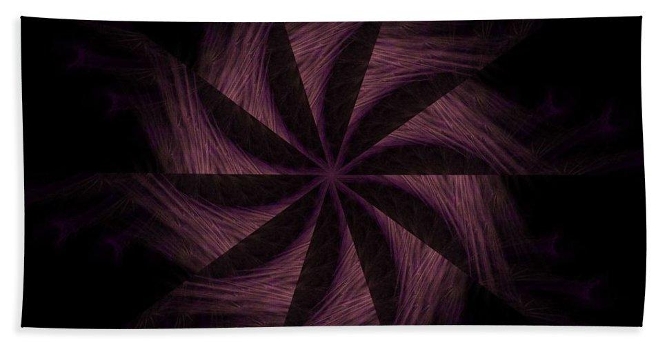 Digital Beach Towel featuring the digital art Purple Power by Rhonda Barrett