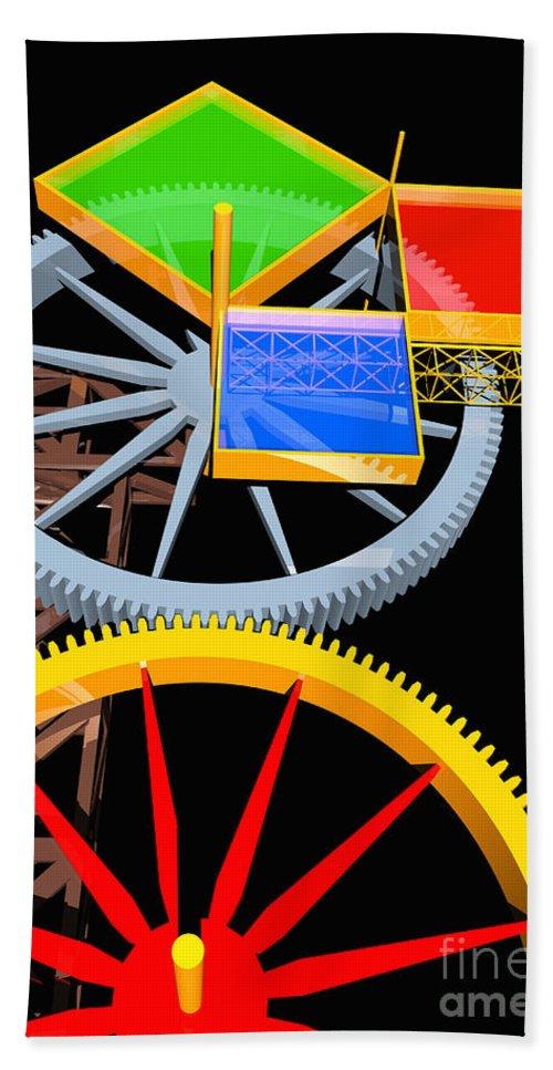 Algebra Beach Towel featuring the digital art Pythagorean Machine Portrait 7 by Russell Kightley