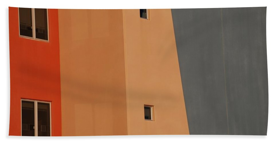 Architecture Beach Towel featuring the photograph Q W School In Color by Rob Hans