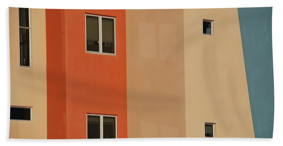 Architecture Beach Towel featuring the photograph Q W School In Colors by Rob Hans