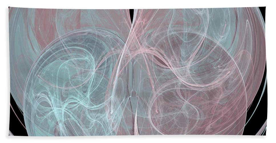 Abstract Beach Towel featuring the digital art Quadrant by Kim Sy Ok