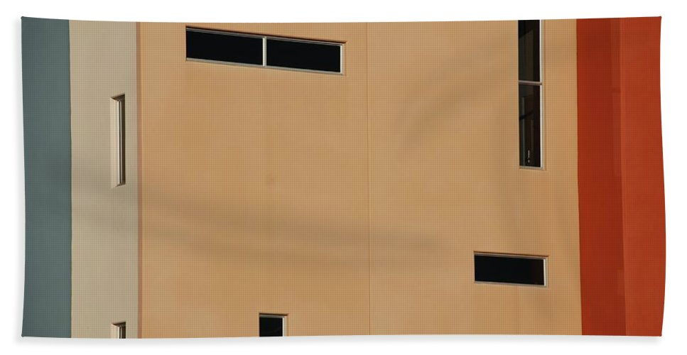 Architecture Beach Towel featuring the photograph Qw School In Colors by Rob Hans