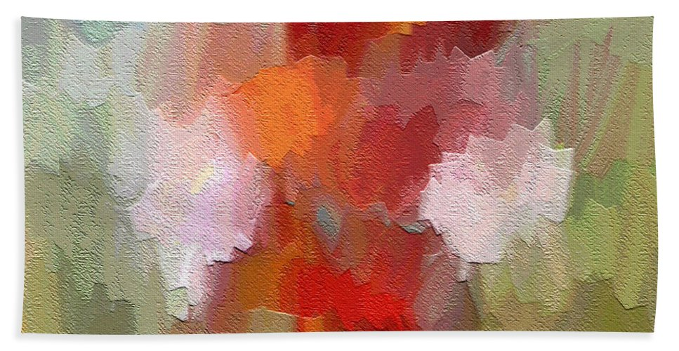 Abstract Art Beach Towel featuring the painting Radiant by Ely Arsha