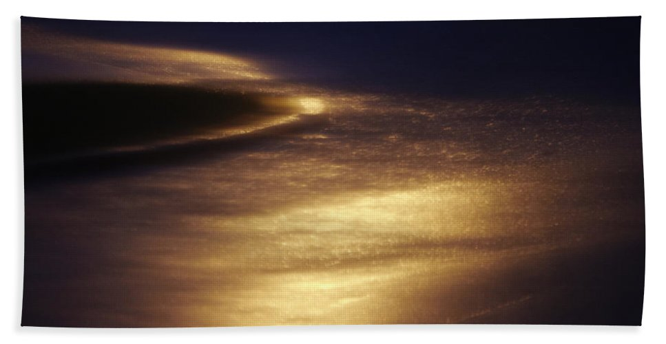 Absence Beach Towel featuring the photograph Gold Water On The Street by Skip Nall