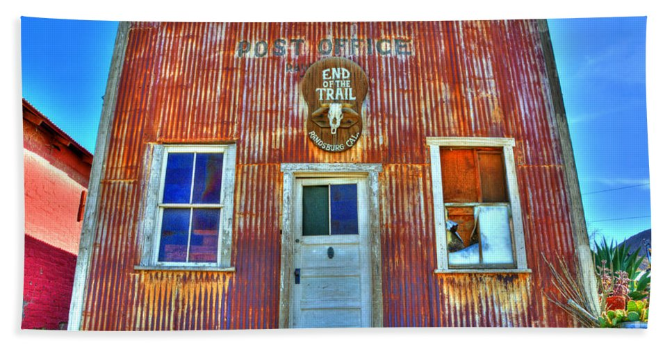 Randsburg Post Office Beach Towel featuring the photograph Randsburg Post Office by Bob Christopher