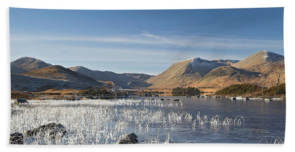 Scotland Beach Towel featuring the digital art Rannoch Moor - Winter by Pat Speirs