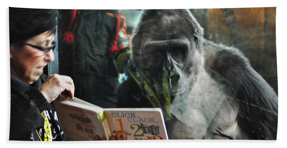 Reading Is Fundamental Beach Towel featuring the photograph Reading Is Fundamental by Bill Cannon