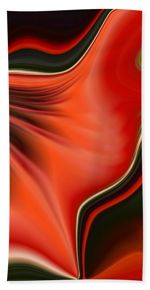 Red Beach Towel featuring the painting Red Beauty by Renate Nadi Wesley