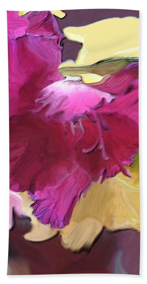 Flower Beach Towel featuring the photograph Red Flower In The Abstract by Ian MacDonald