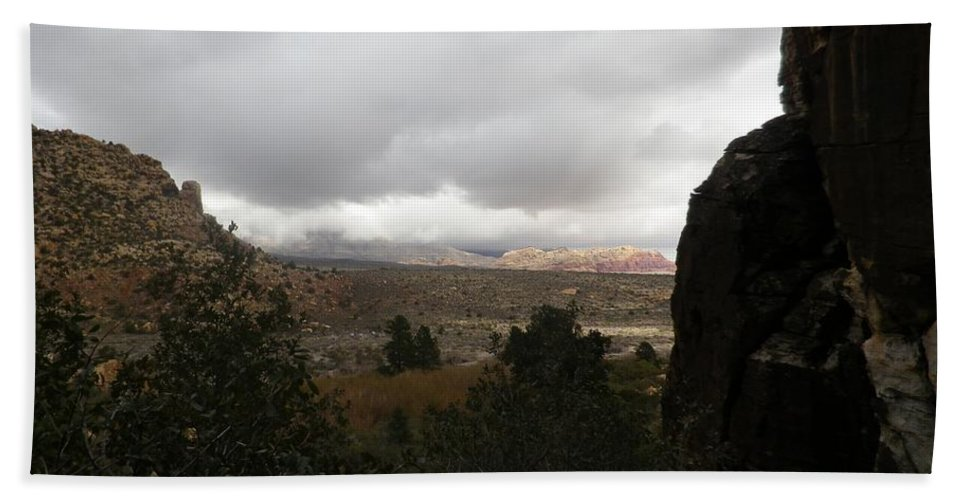 Desert Beach Towel featuring the photograph Red Rock Canyon View by Jonathan Barnes