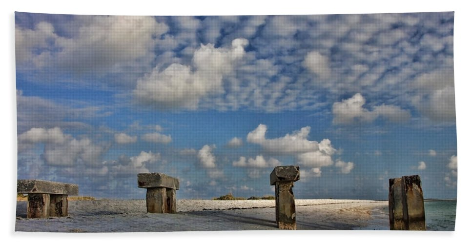 Pier Beach Towel featuring the photograph Remains Of The Day by Shari Jardina