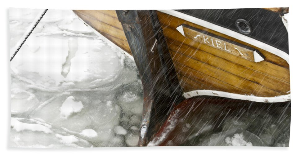 Europe Beach Towel featuring the photograph Resting In Ice by Heiko Koehrer-Wagner