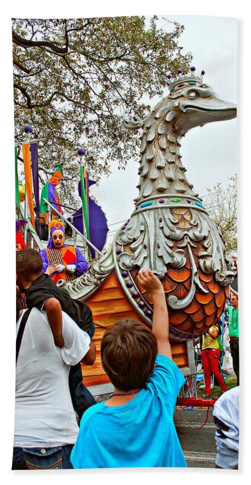 New Orleans Beach Towel featuring the photograph Rex Mardi Gras Parade Vi by Steve Harrington