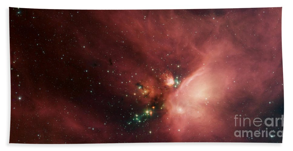 Rho Ophiuch Beach Towel featuring the photograph Rho Ophiuchi by Nasa