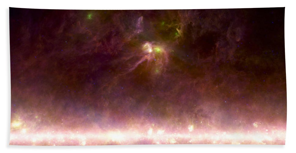 Astronomical Beach Towel featuring the photograph Rho Ophiuchi Nebula And Galactic Center by NASA Science Source