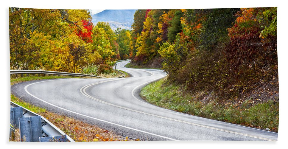 Mountain Beach Towel featuring the photograph Ribbon Road by Betsy Knapp