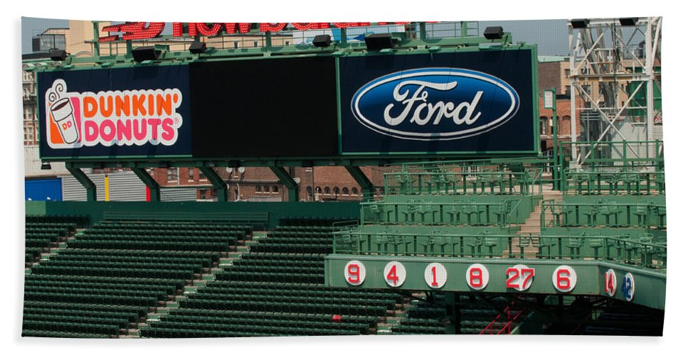 fenway Park Beach Towel featuring the Rich In History by Paul Mangold