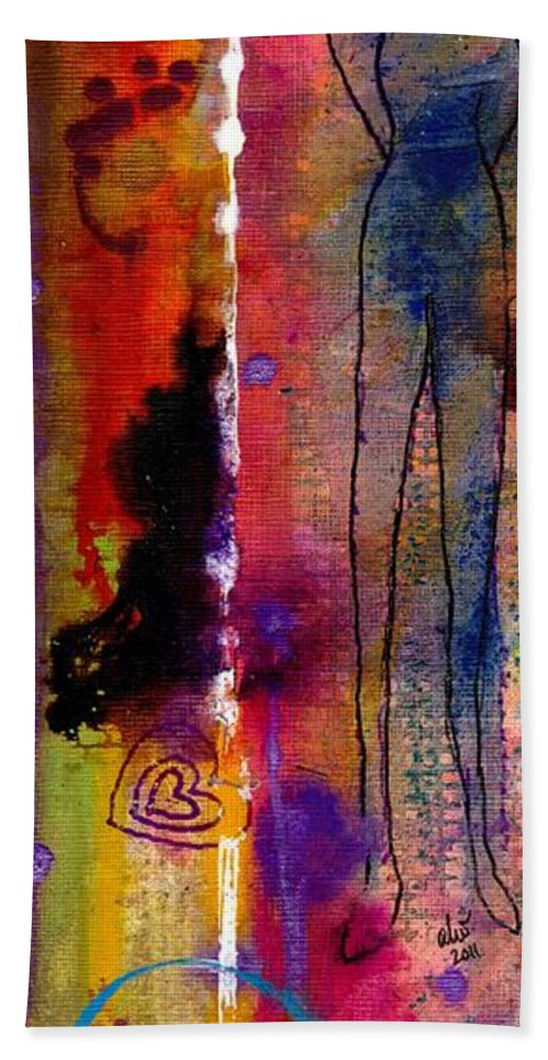 Spiritual Beach Towel featuring the painting Rising To The Challenge by Angela L Walker