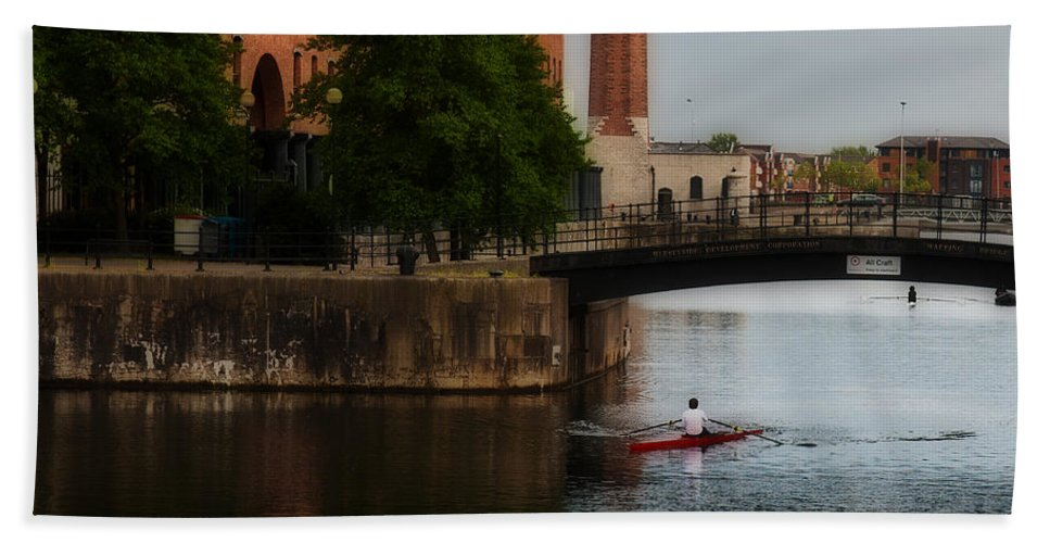 Liverpool Beach Towel featuring the photograph River Gliding by Edward Peterson