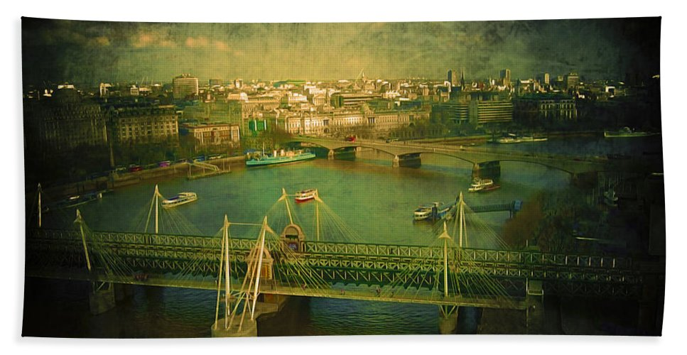 Architecture Beach Towel featuring the photograph River Thames by Svetlana Sewell