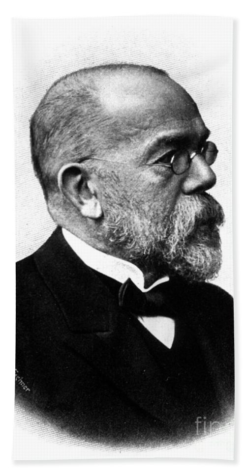 History Beach Towel featuring the photograph Robert Koch, German Microbiologist by Science Source