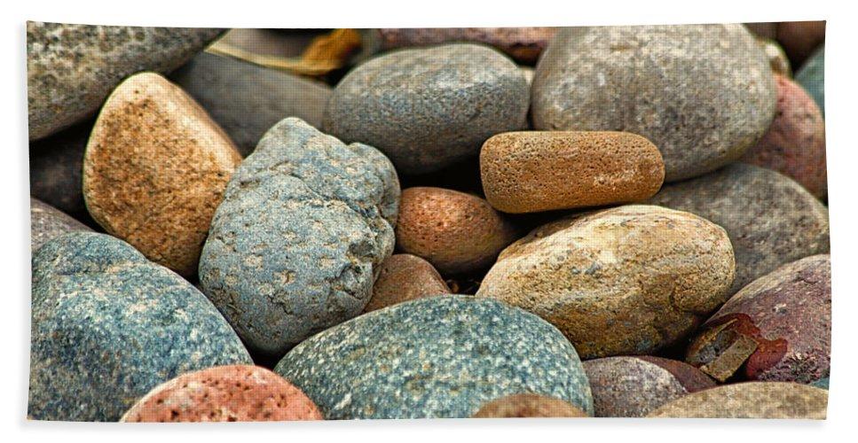 Rocks Beach Towel featuring the photograph Rocks by Lauri Novak