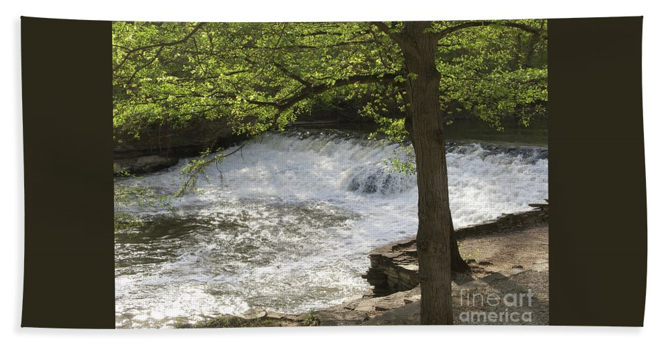 River Beach Towel featuring the photograph Rouge River At Fair Lane by Ann Horn