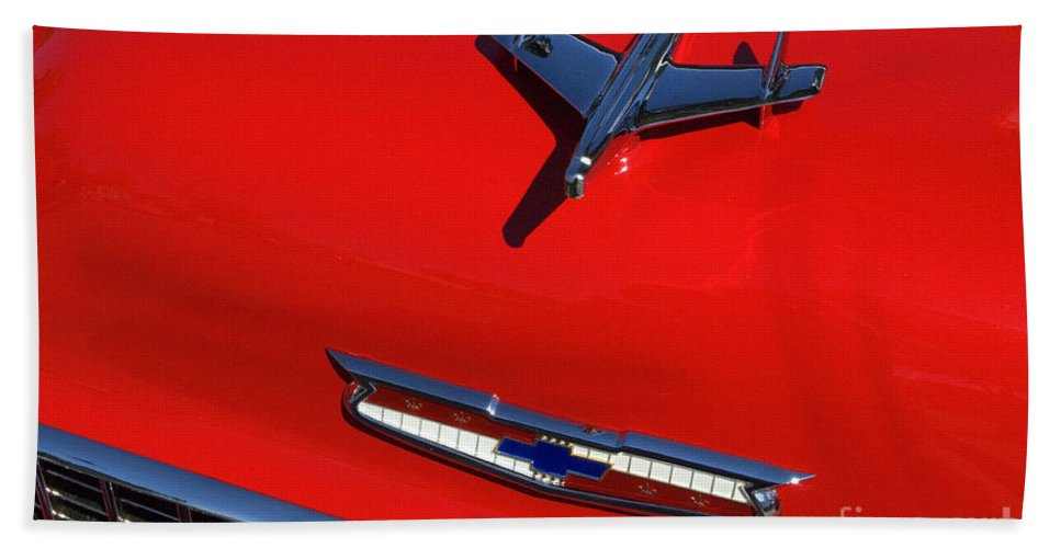 1955 Chev Beach Towel featuring the photograph Route 66 Classic Cars 1 by Bob Christopher