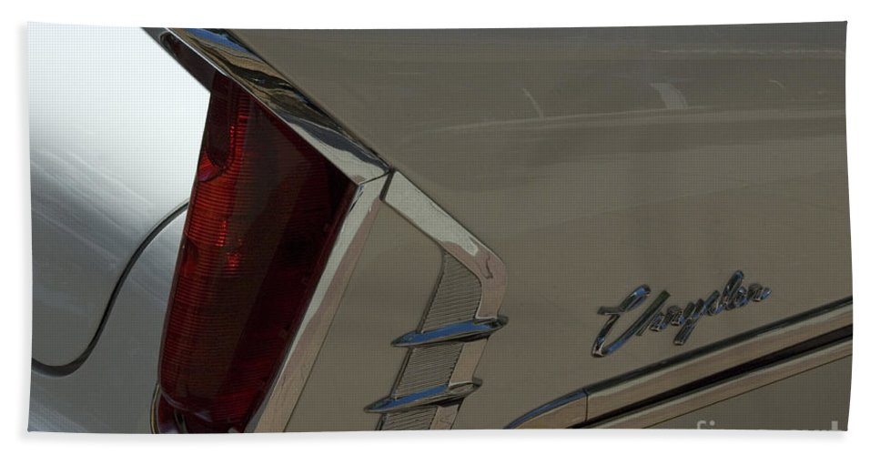 Chrysler Fin Beach Towel featuring the photograph Route 66 Classic Cars 2 by Bob Christopher