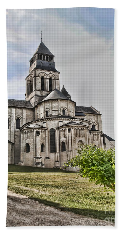Fontevraud Abbey Beach Towel featuring the photograph Royal Fontevraud Abbey by Sheila Laurens