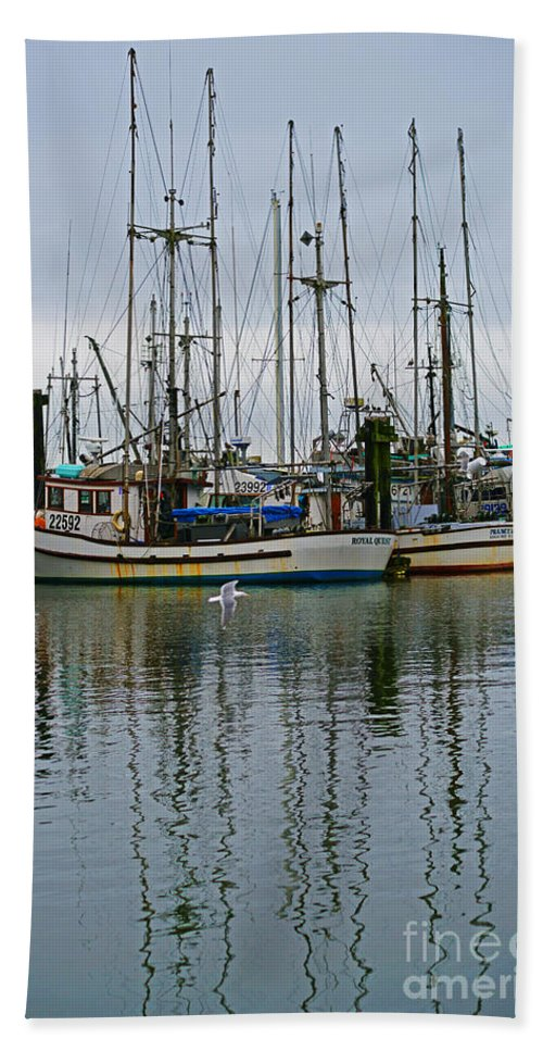Fishing Boats Beach Towel featuring the photograph Royal Quest by Randy Harris