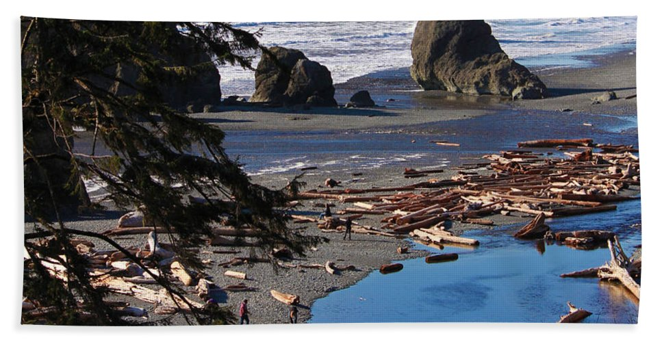 Sea Beach Towel featuring the photograph Ruby Beach IIi by Jeanette C Landstrom