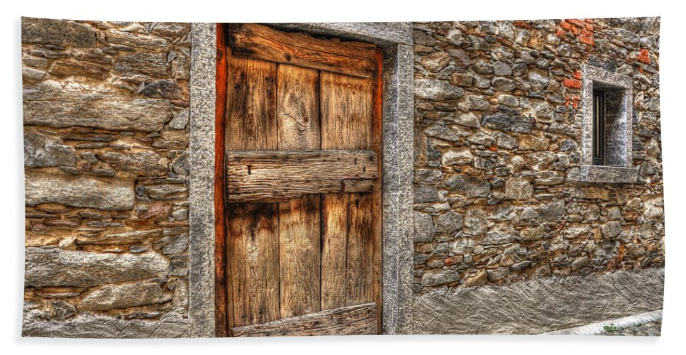 House Beach Towel featuring the photograph Rustic Stone House With Old by Mats Silvan