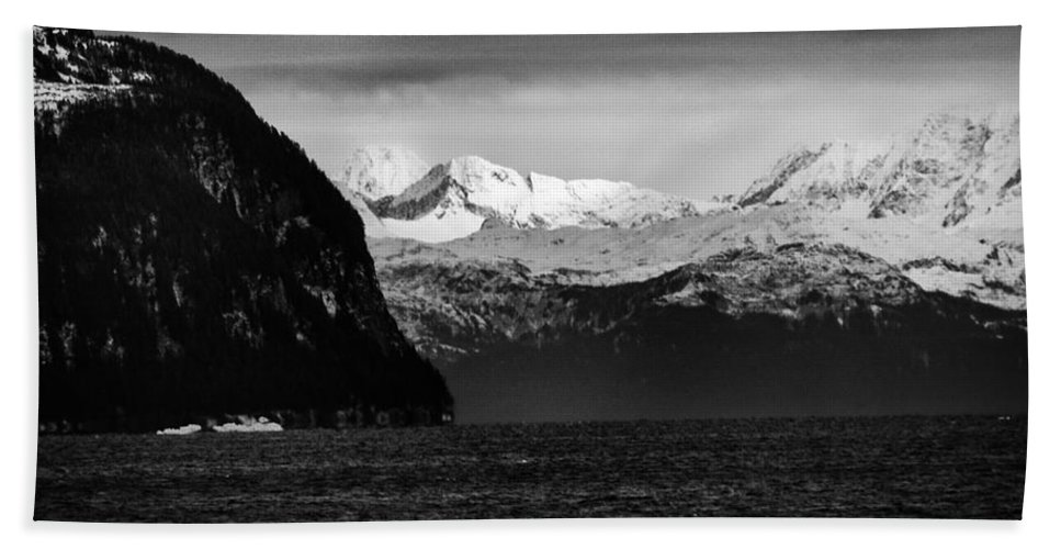 Alaska Beach Towel featuring the photograph Sailing To Valdez by Roger Wedegis