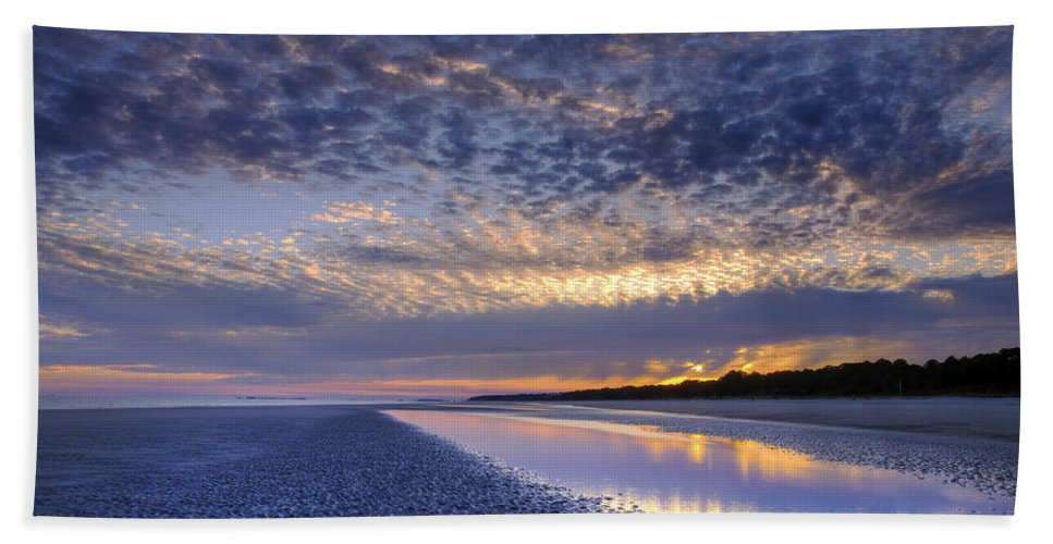 Beach Beach Towel featuring the photograph Same Night Five Fifty Two Pm by Phill Doherty